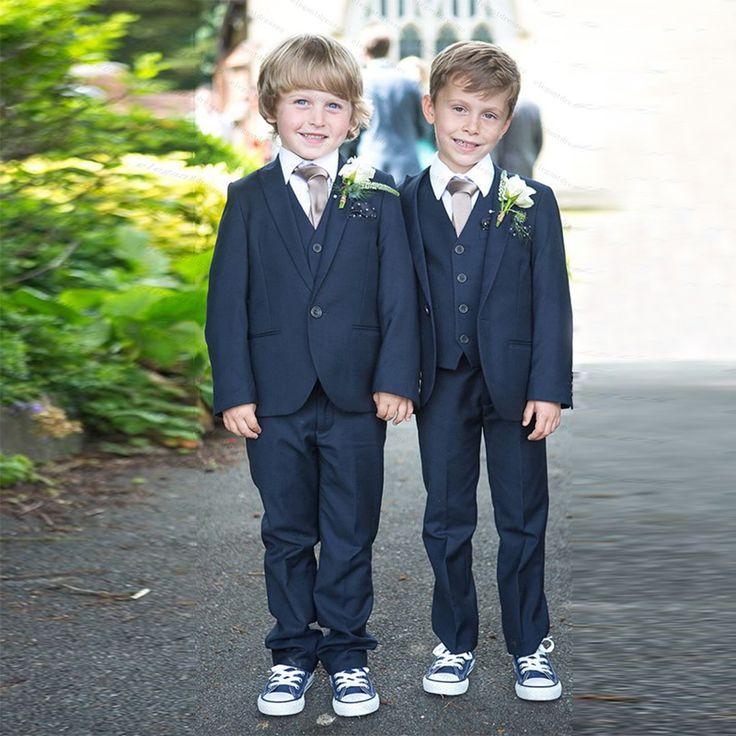 Nieuwe Collectie Jongens Prom Suits Baby Jongen Kledij 2016 Formele Communie Suits 4 Stuk Kids Wedding Suits Met Jas Broek Tie Vest(China (Mainland))