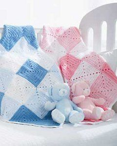 Double Diamond Baby Blanket # free crochet pattern