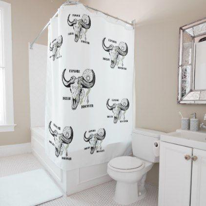 Explore Dream Discover Shower Curtain - shower curtains home decor custom idea personalize bathroom