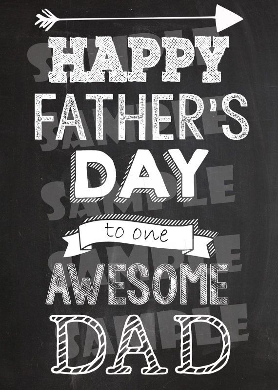 Printable FATHER'S DAY CARD Chalkboard by GlitterAndShineShop