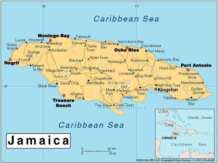 Jamaica Map To View Resorts At Other Jamaican Destinations - Jamaica map