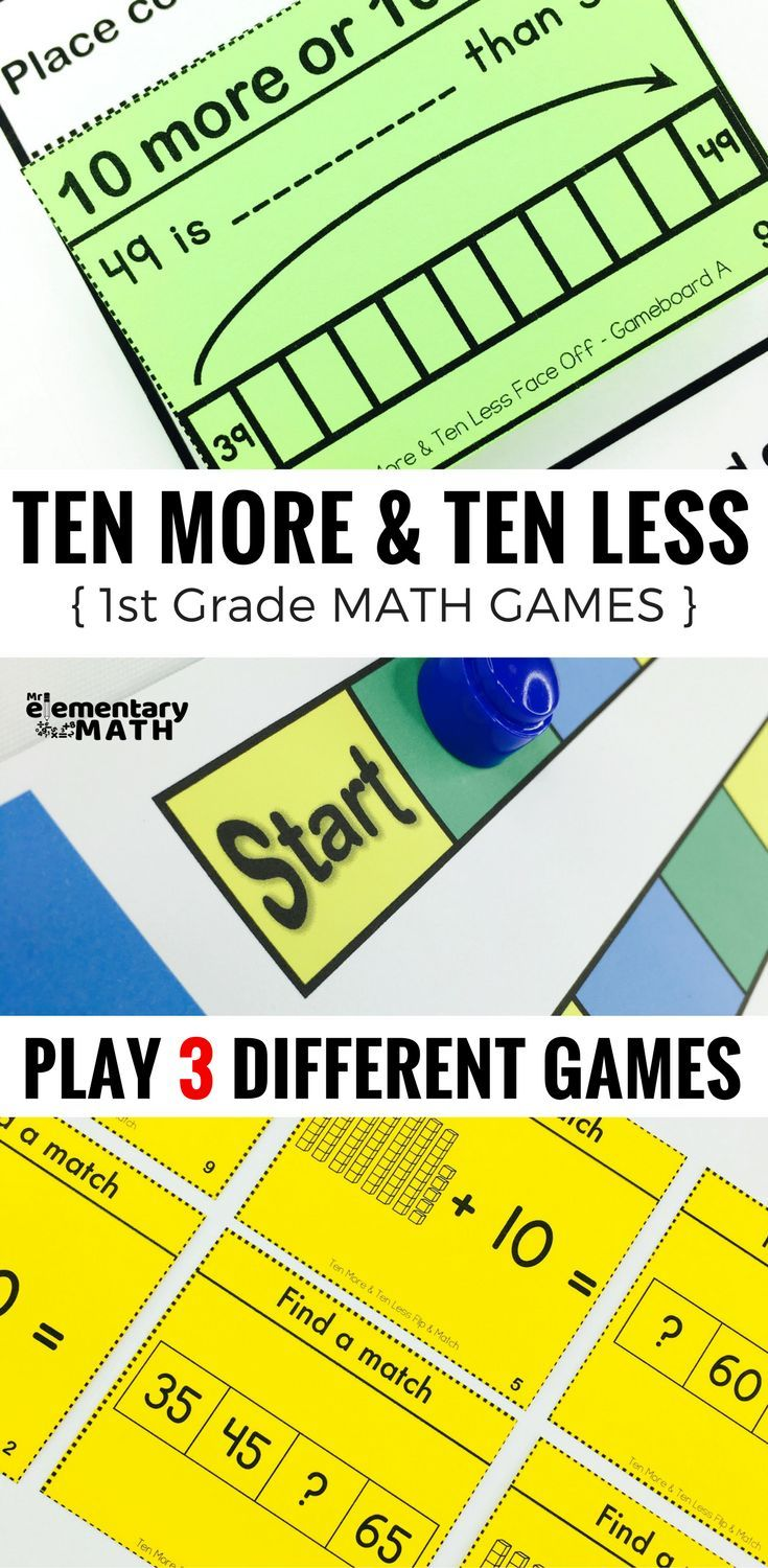 10 More And 10 Less Games For Your 1st Grade Students Are A Fun Alternative To Worksheets Check Elementary Math Games Math Games Math Intervention Activities [ 1500 x 735 Pixel ]