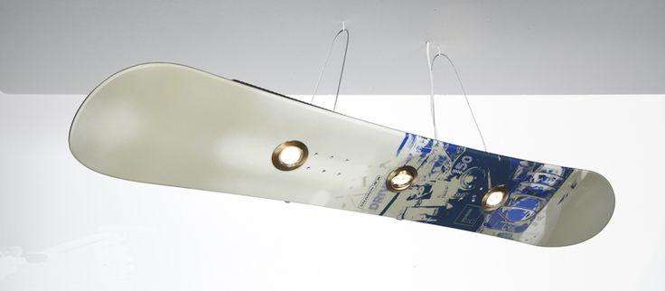 snowboard tahtasından aydınlatma tasarımı