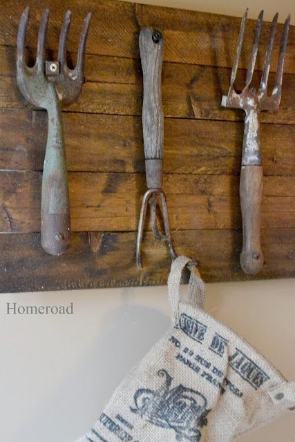 repurposing vintage hand tools, home decor, repurposing upcycling, Some of the rakes are slightly bent to make a better hook