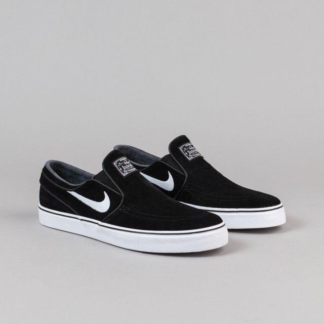 Nike SB Stefan Janoski Slip On Shoes - Black / White | Flatspot