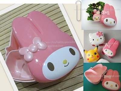 Hello Kitty shaped bento boxes!: Bento Lunch