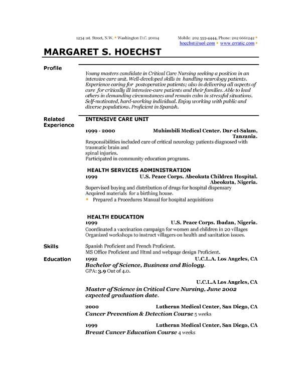 22 best resume images on Pinterest Resume examples, Sample - hospital housekeeping resume