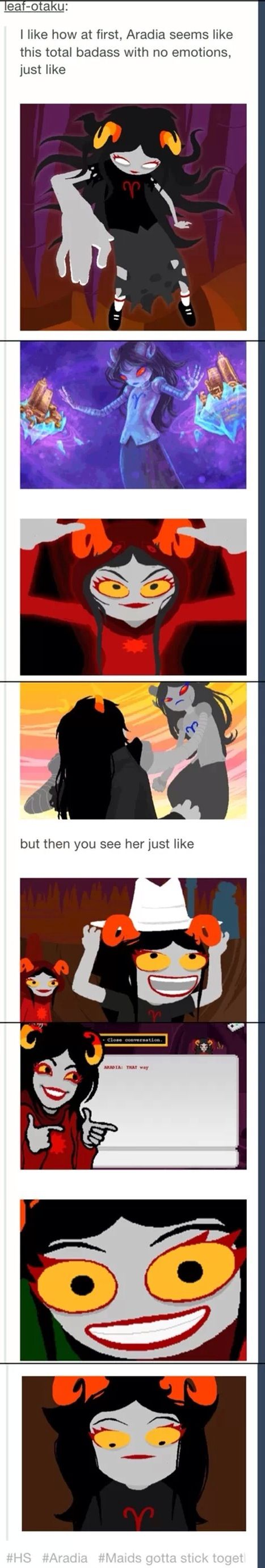 I think aradia is my spirit animal which is funny because I'm an aries<<Glub! 3:D