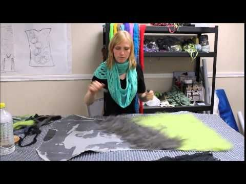 ▶ Making Texture with Nuno Felt on a Tunic - YouTube