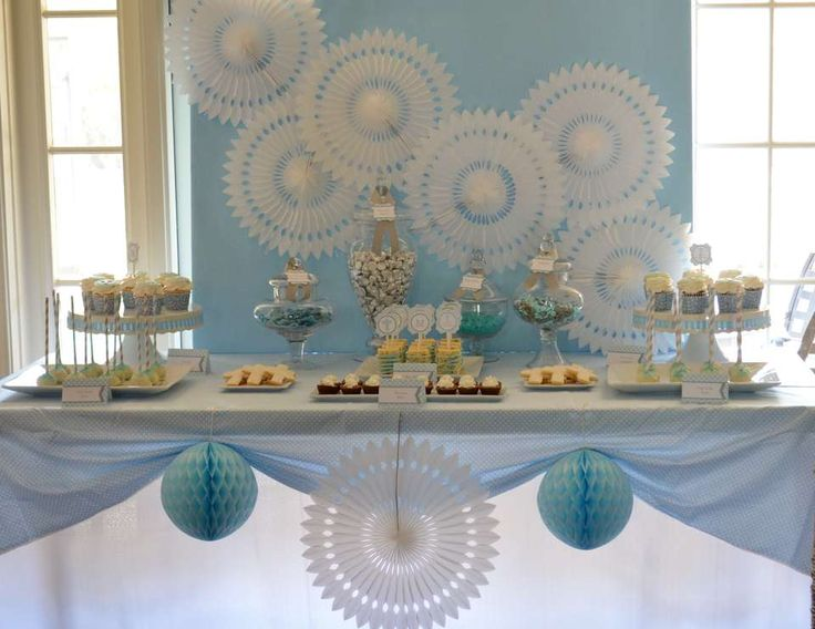"Baby Blue and Silver (Grey) / Baptism ""First Communion"" 