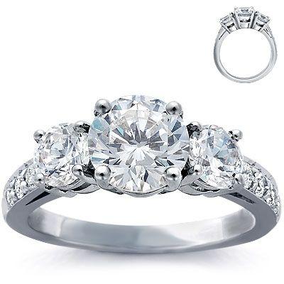 THIS IS MY RIIIIIINNNNGGGGG!!!! #LoveOnTop Three-stone-pave-diamond-ring-platinum