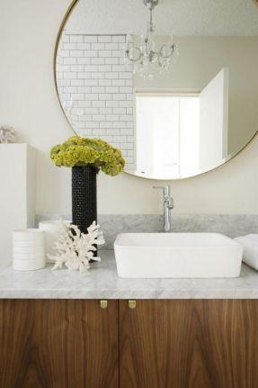 the latest large round bathroom mirror design idea medium wood tone rh pinterest com