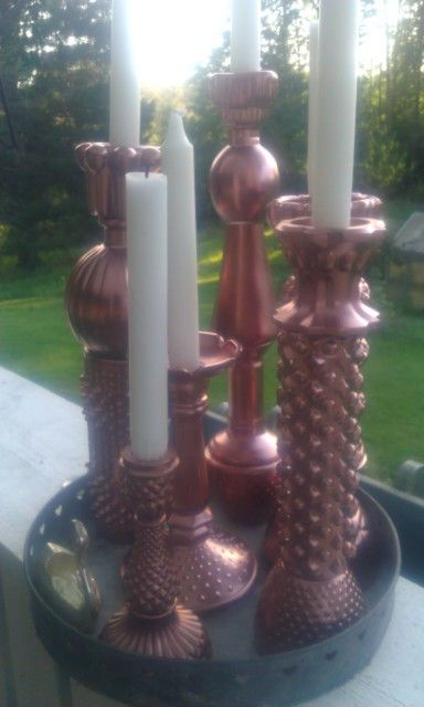 Some candlesticks that I´ve made.