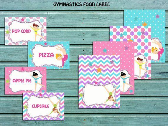 gymnastic food tent labels blank gymnastic stickers gymnastic rh pinterest com