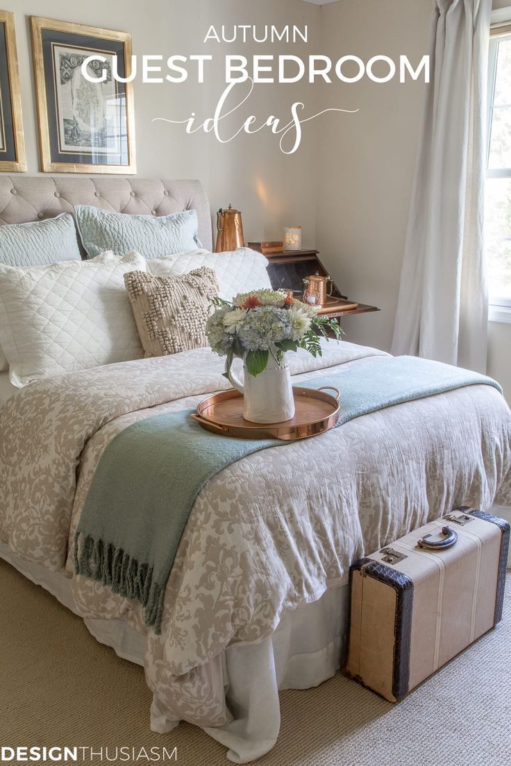 Fall Guest Bedroom Ideas 6 Ways To Welcome Autumn Visitors Small Guest Bedroom Guest Room Decor Cozy Guest Rooms
