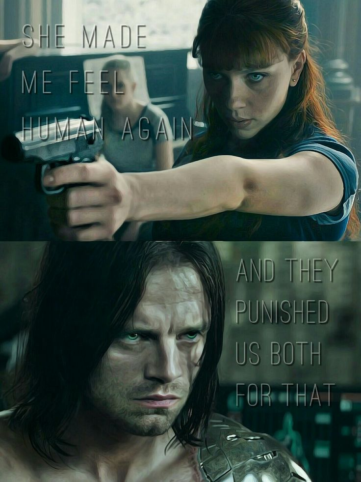Bucky and Natasha #bucktasha #winterwidow #buckynat