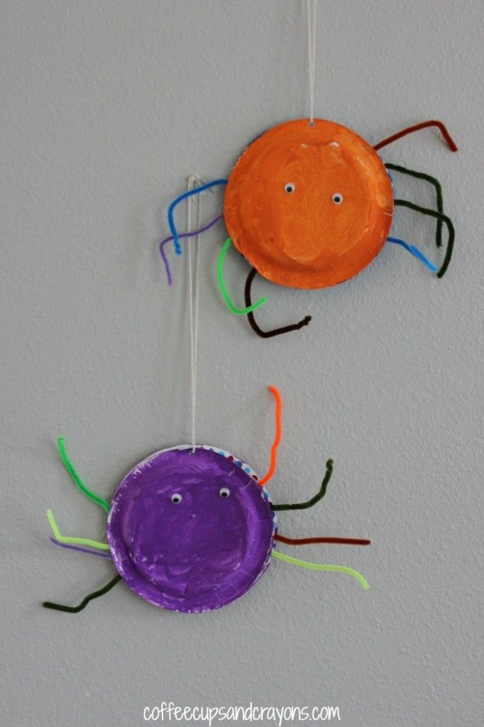 Easy Spider Paper Plate Craft