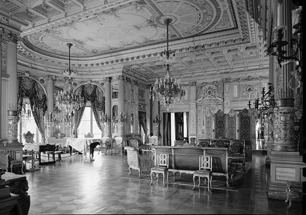 The Breakers (Cornelius Vanderbilt House), Newport Rhode Island - MUSIC ROOM WITH SOUTHWEST BAY FROM THE EAST
