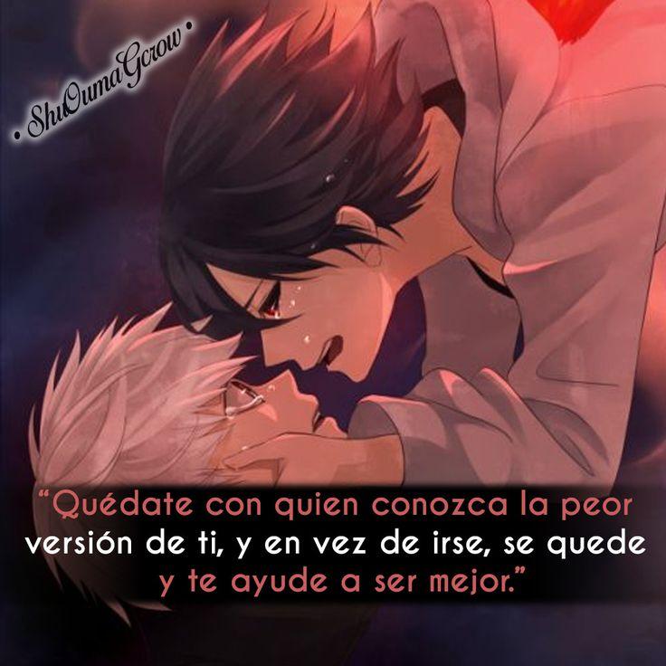 Quédate con quien conozca #ShuOumaGcrow #Anime #Frases_anime #frases