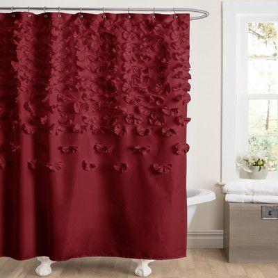 Burgundy Red Feminine Shower Curtain Love This Decor At