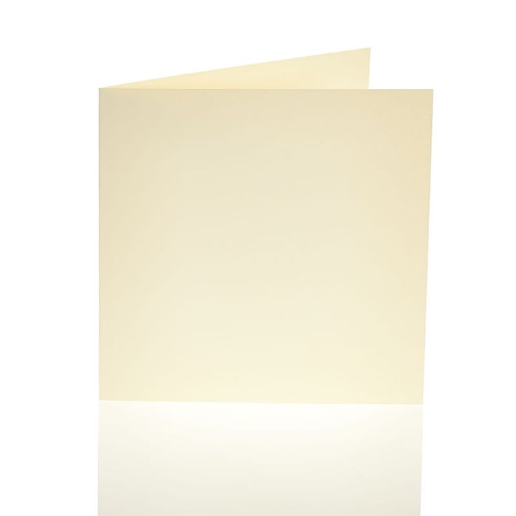 Ivory Smooth Blank Cards And Envelopes 6 X 6 Inches 50 Pack | Hobbycraft