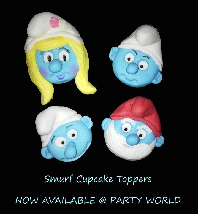 Fondant smurfs (cupcake toppers) (Bloemfontein cake & cupcakes)