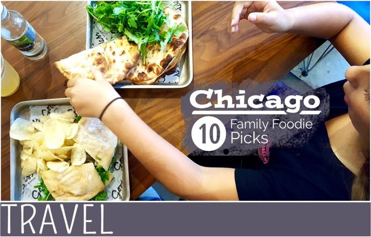 Staying or just visiting Chicago's River North neighbourhood check out these 10 spots to grab a bite to eat with the family