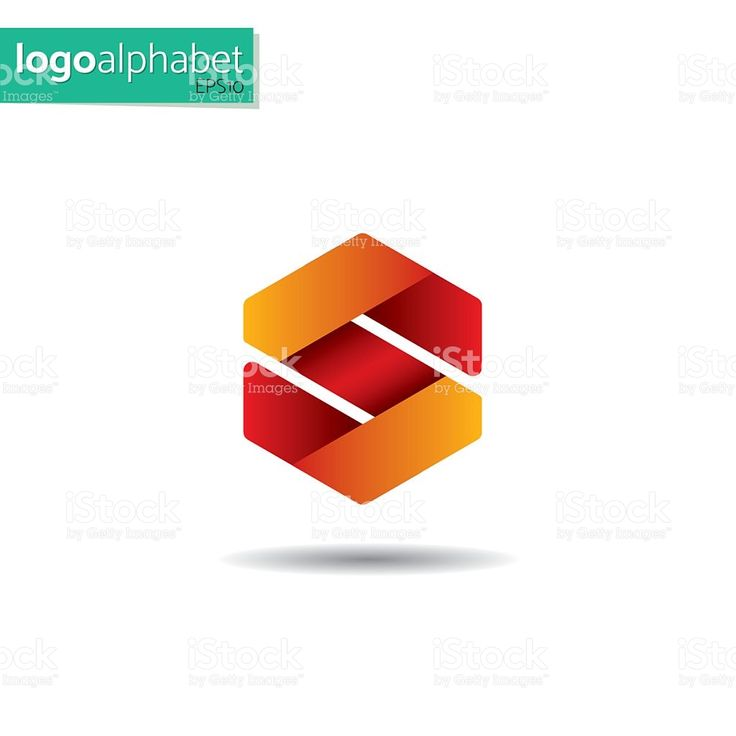 letter S vector template for using as