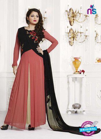 NS11009 Black Designer Georgette Gawn