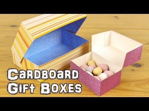 Card stock gift boxes