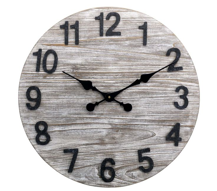 Time to get a new clock? Look no further than our rustic wooden design.  Priced at £28.