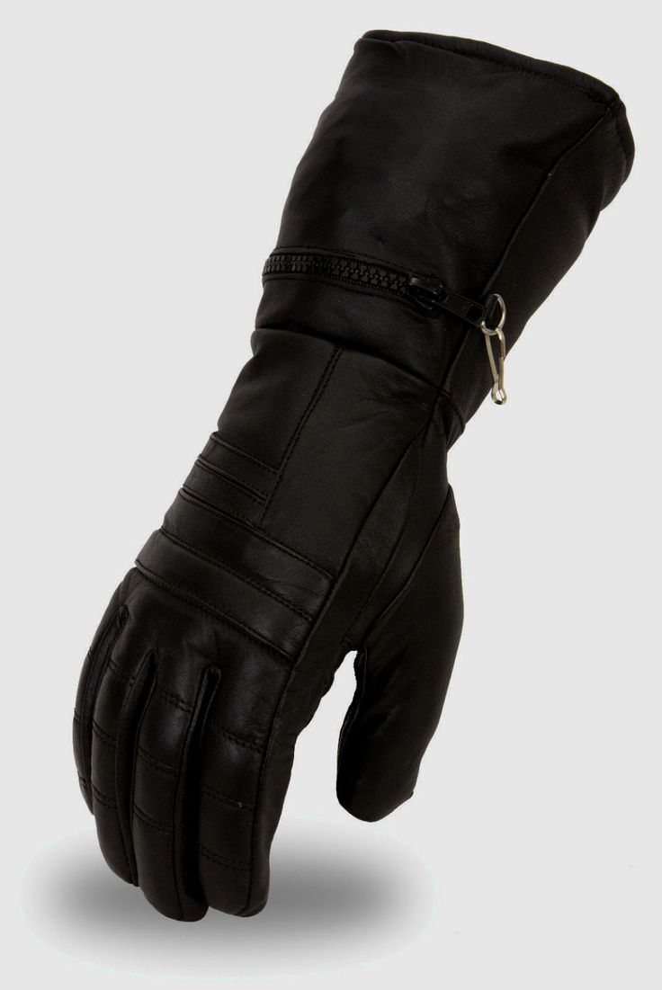 Insulated leather motorcycle gloves - Great Newest Leather Motorcycle Gauntlet Gloves