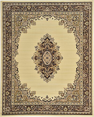 A2Z Rug Traditional Ivory 8 X 10 Mashad Collection Area Perfect For Any Floor