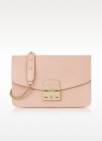 561f375a8b FURLA Moonstone Metropolis Small Leather Shoulder Bag.  furla  bags  shoulder  bags  hand bags  stone  leather  lining