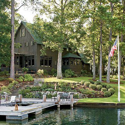 lakeLake Houses, Dreams Home, Decor Ideas, Lakes Home, Dreams House, Exterior Colors, The Lakes House, Places, Lakes House Decor