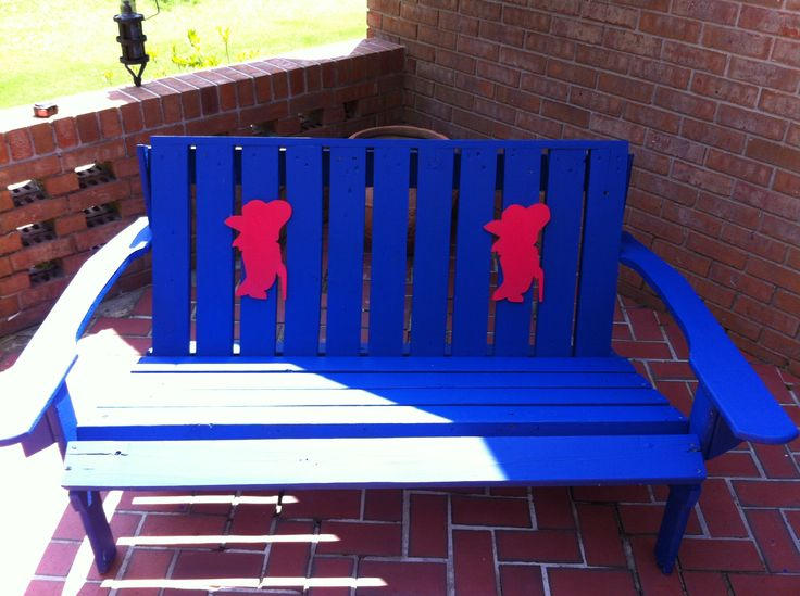 Ole Miss Rebel Patio Bench