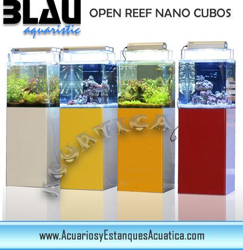 ** ENVIO GRATIS! 260€ ** NANO ACUARIO MARINO BLAU OPEN REEF CUBO 91L  + SUMP + CONEXIONES http://acuariosyestanquesacuatica.com/acuarios-de-agua-salada-marinos/175-nano-acuario-marino-blau-open-reef-cubo-91l-completo.html