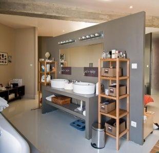 salle de bain ouverte sur la chambre sdb pmr pinterest salle de bains ouverte ouvert et. Black Bedroom Furniture Sets. Home Design Ideas