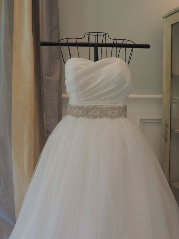 Rhinestone and Beaded Wedding Gown Belt Crystal by PalisadesBride, $99.00