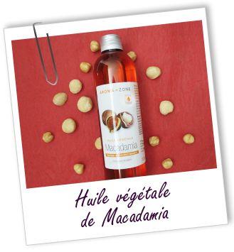 Soin pour le corps : huile de macadamia (100 mL) + 8 gouttes de vitamine E + 17 gouttes de fragrance sublime