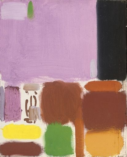 Patrick Heron, Violet Brown Ochre Lemon & Black