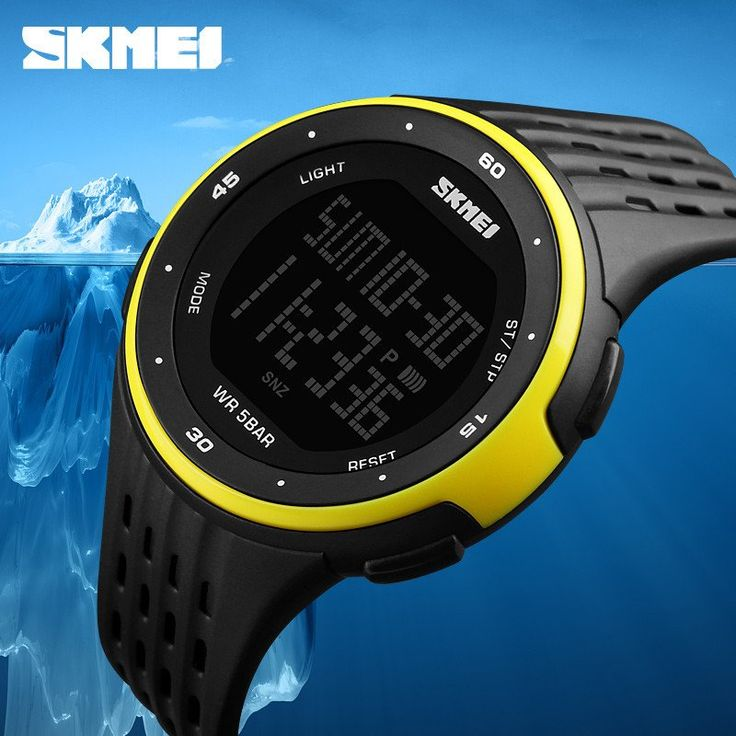 YELLOW - Men and Women Sport Watches 50m Waterproof Digital LED