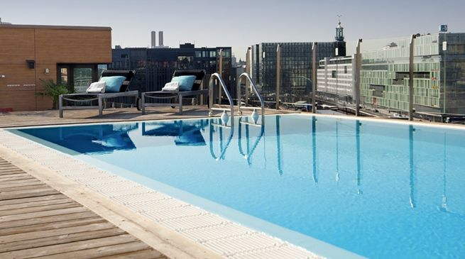#rooftop #pool at Hotell #Stockholm sentrum - Clarion Hotel Sign
