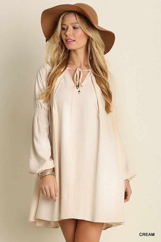 Long Sleeve Keyhole Dress