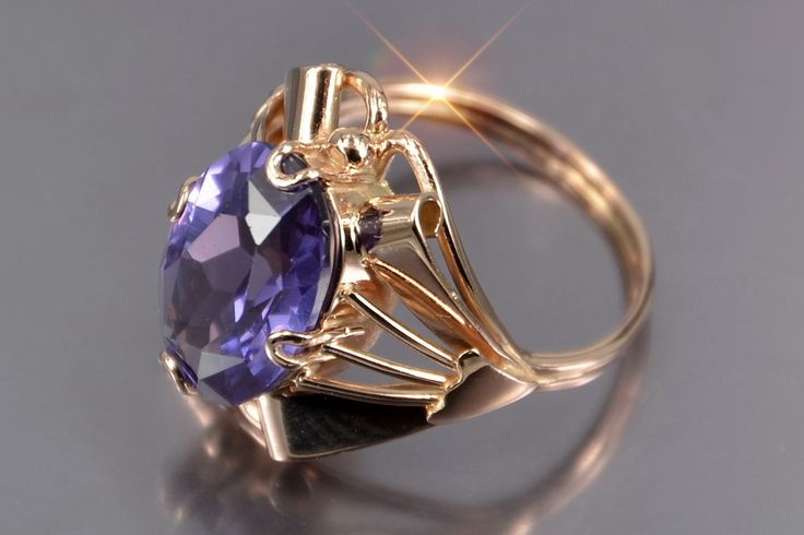 Russian rose Soviet gold alexandrite ring vrax015 Price: 499$