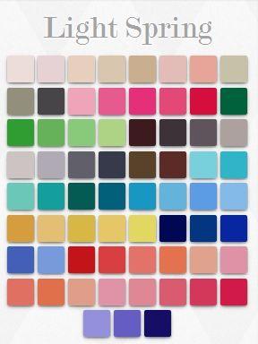 Light Spring colour palette