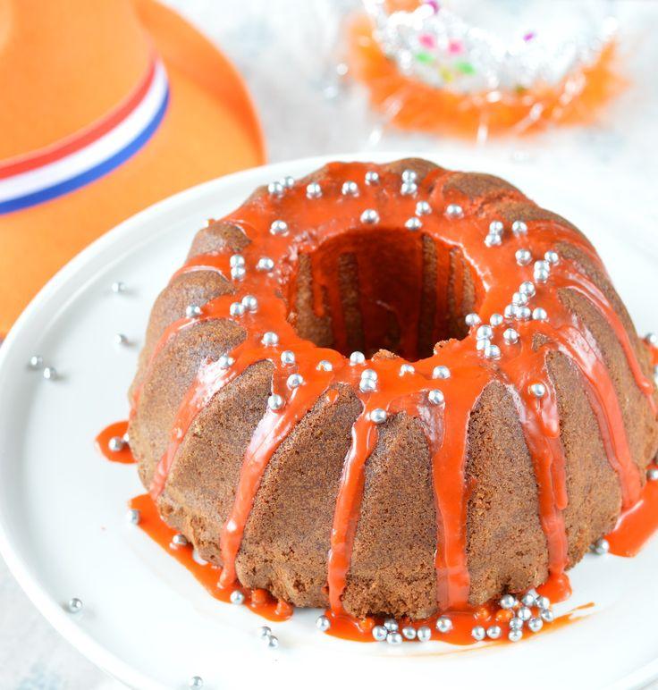 Koninginnedag cake (met amandel en sinaasappel)