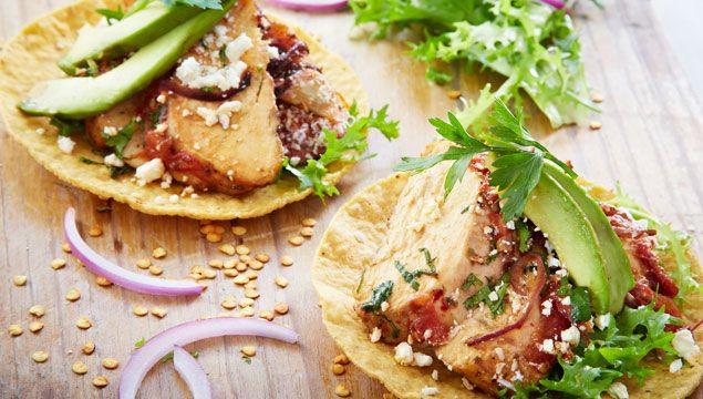 TOSTADAS DE POLLO AL HORNO   Chef Oropeza