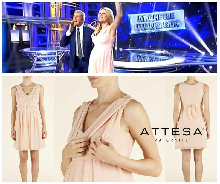 Anno Nuovo, Collezione Nuova. Nella puntata del 6 gennaio 2015 una raggiante #MichelleHunziker indossa @AttesaMaternity #StrisciaLaNotizia. Uno stile da imitare