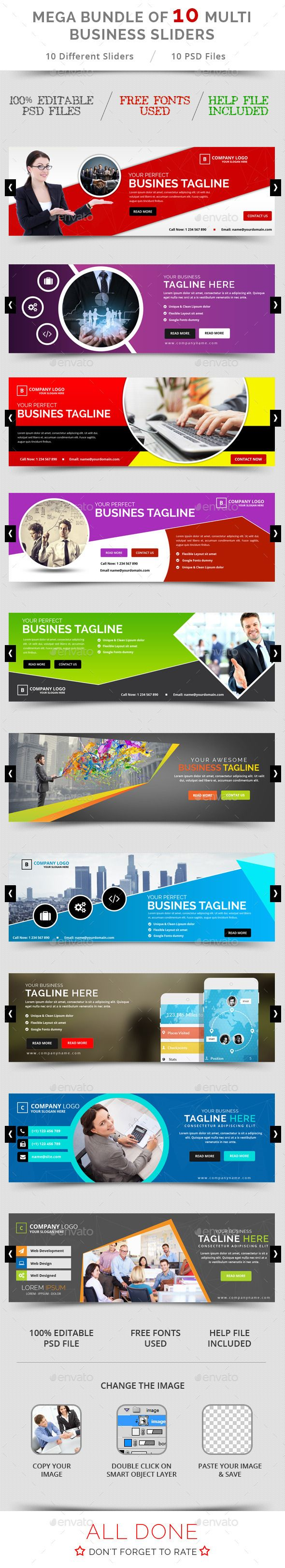 Bundle of 10 Business Sliders Templates PSD. Download here: http://graphicriver.net/item/bundle-of-10-business-sliders/11769938?ref=ksioks